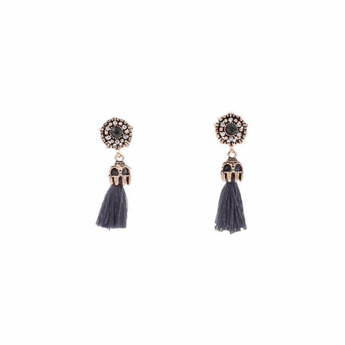 Imperial Collection - Smoky Drop Earrings - Kinsley Armelle