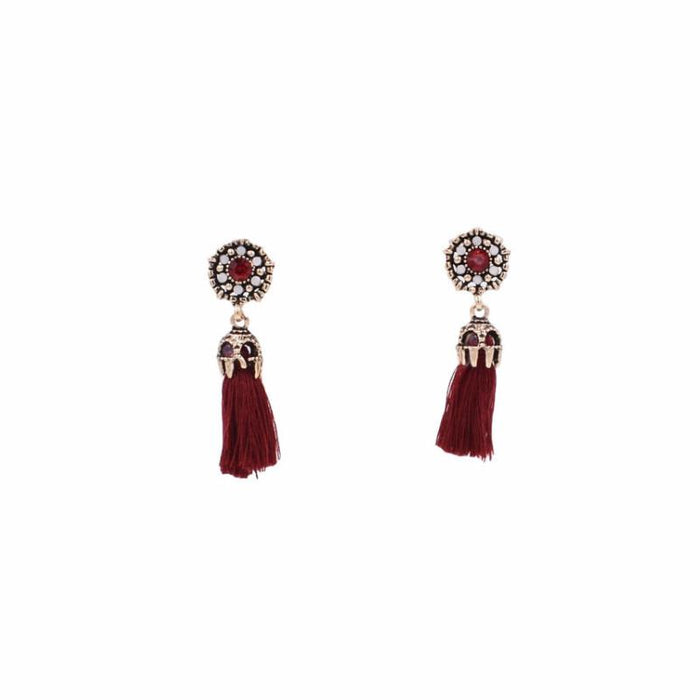 Imperial Collection - Crimson Drop Earrings - Kinsley Armelle