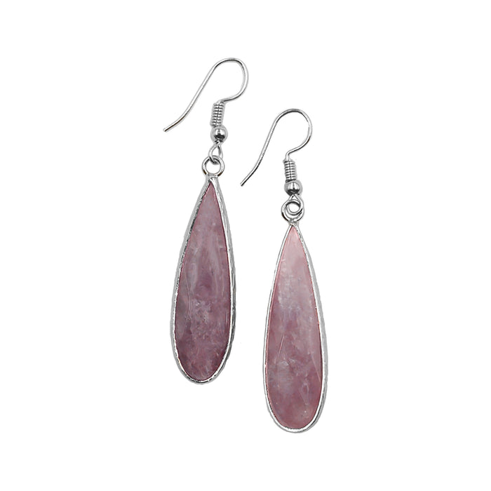 Darcy Collection - Silver Ruby Earrings