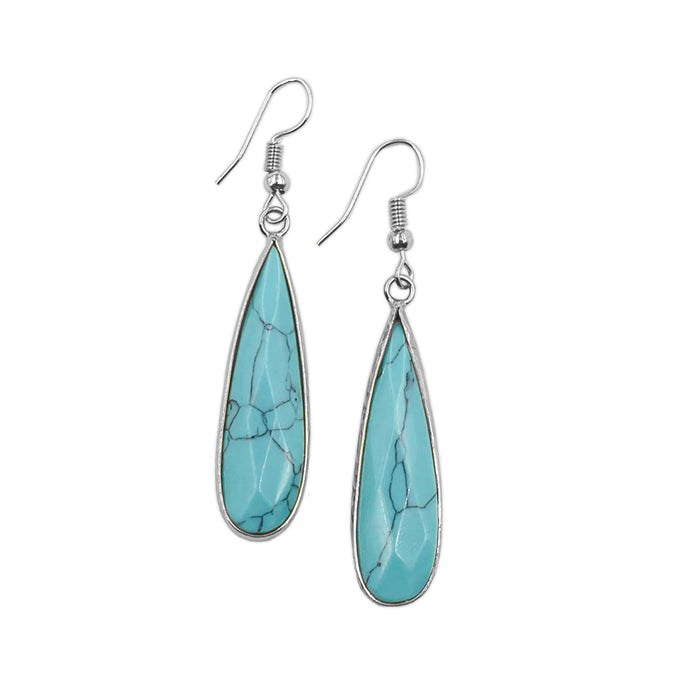 Darcy Collection - Silver Turquoise Earrings