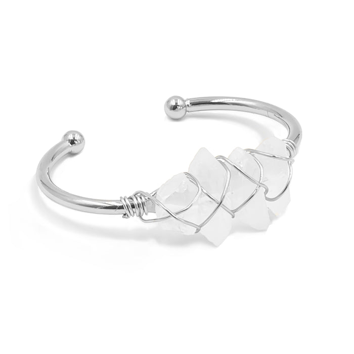 Devi Collection - Silver Quartz Bracelet