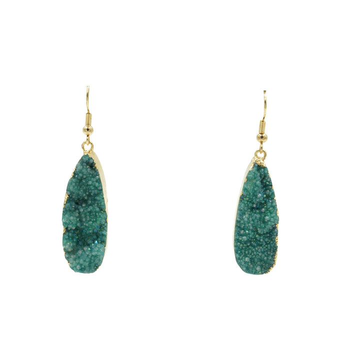 Druzy Collection - Jade Drop Earrings