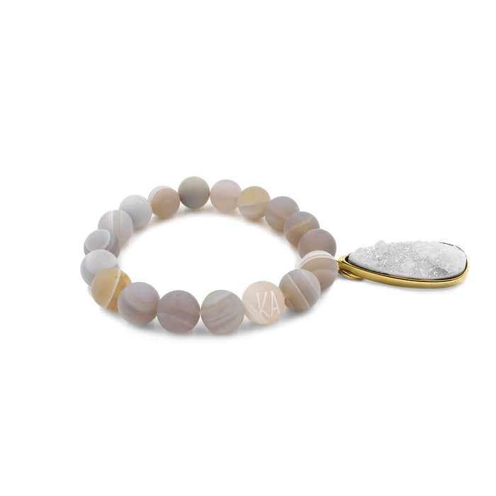 Druzy Collection - Cinder Quartz Drop Bracelet