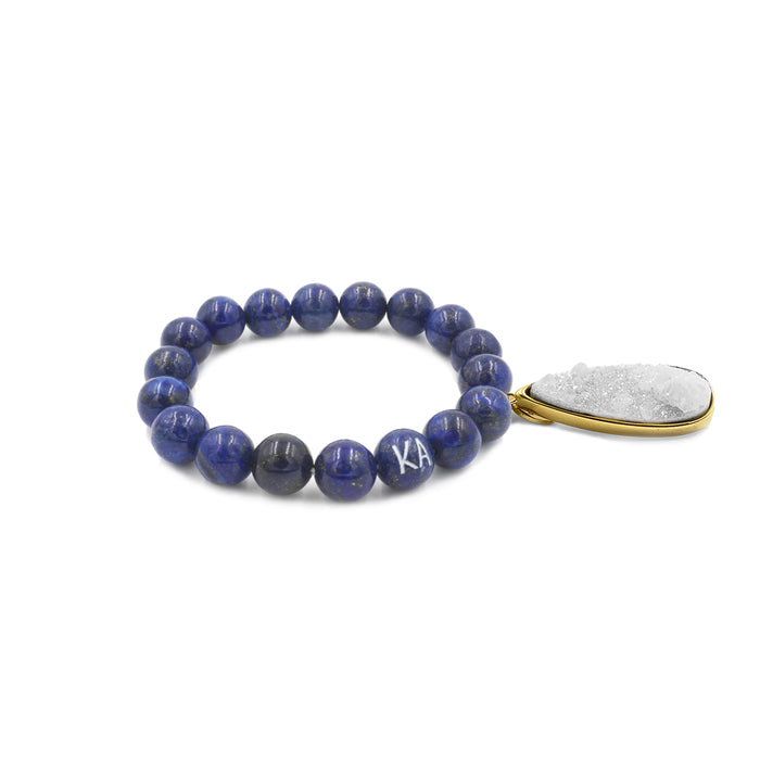 Druzy Collection - Indigo Quartz Drop Bracelet