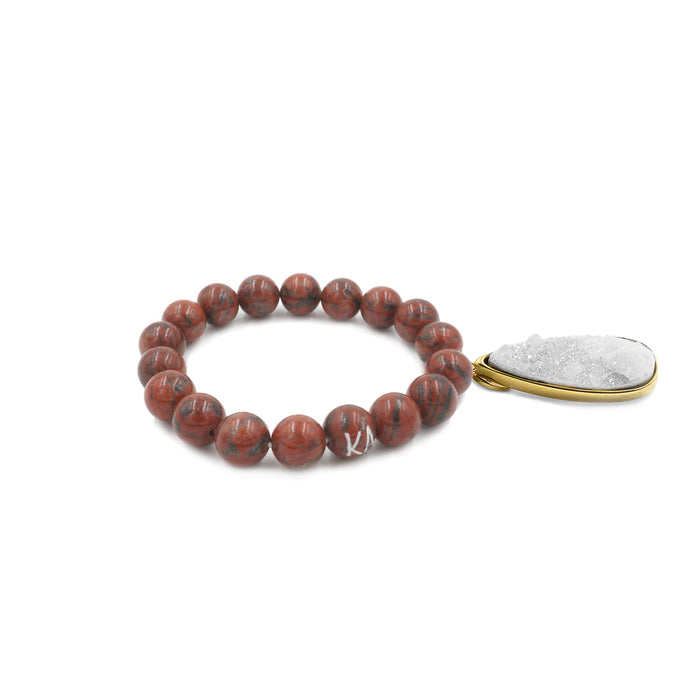 Druzy Collection - Jasper Quartz Drop Bracelet
