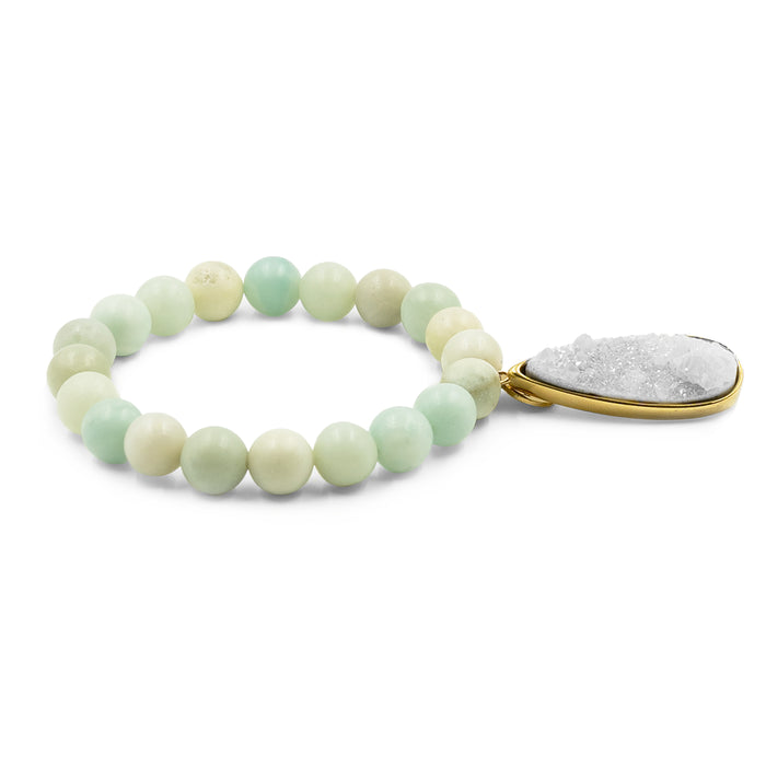 Druzy Collection - Mint Quartz Drop Bracelet
