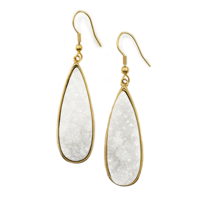 Druzy Collection - Quartz Drop Earrings