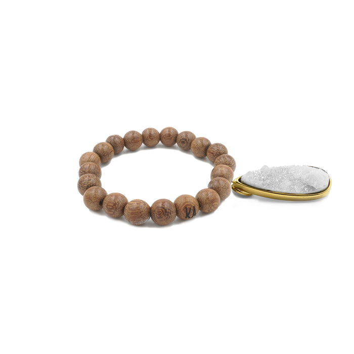 Druzy Collection - Timber Quartz Drop Bracelet