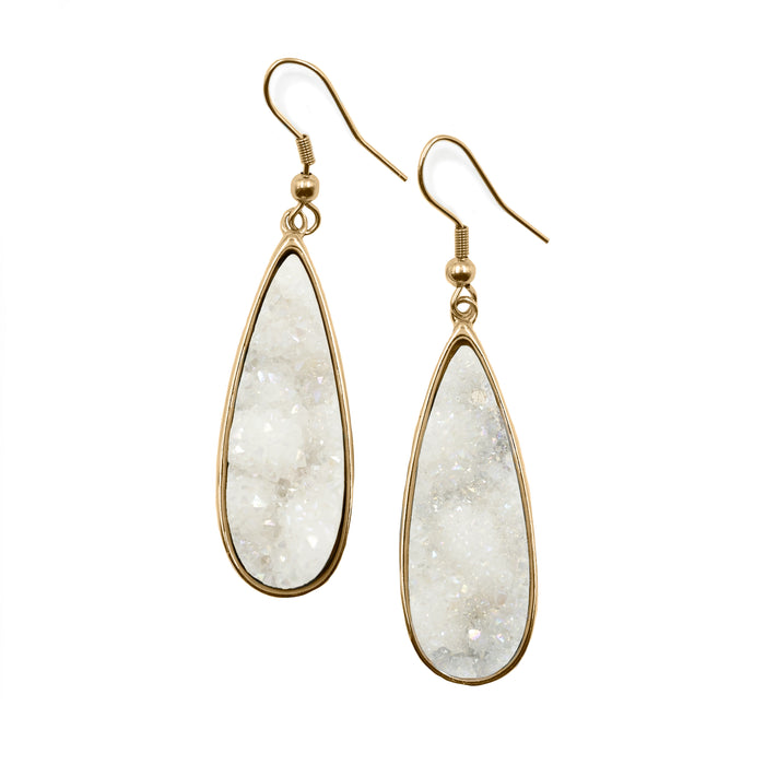 Druzy Collection - Quartz Drop Earrings (Unique)