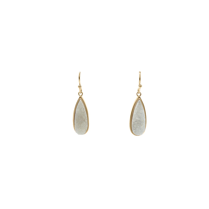 Druzy Collection - Petite Quartz Drop Earrings