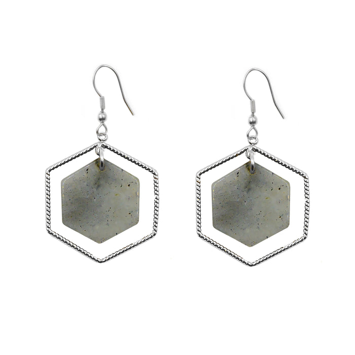 Eva Collection - Silver Haze Earrings