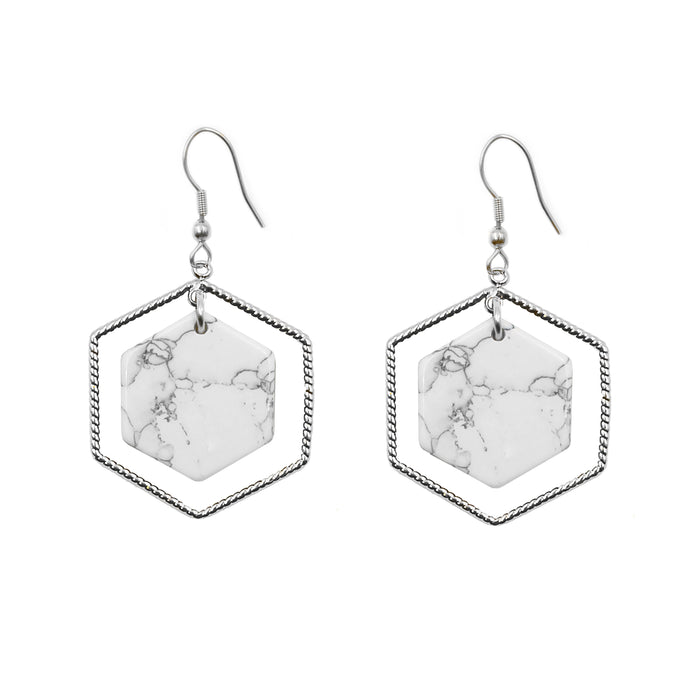 Eva Collection - Silver Pepper Earrings