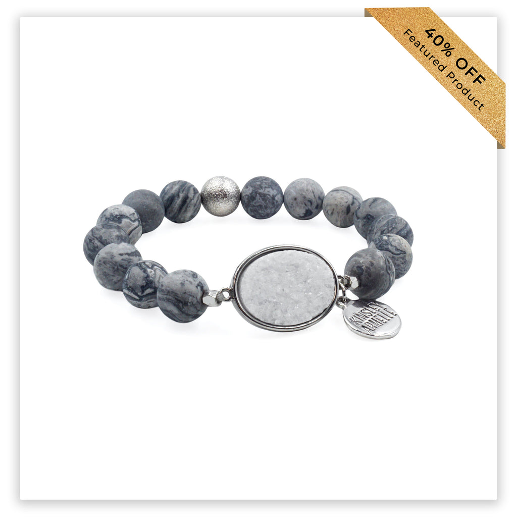 Stone Collection - Silver Brienne Bracelet