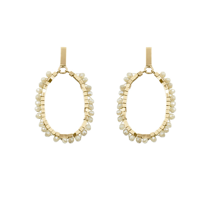 Glam Collection - Khaki Earrings