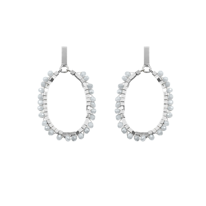 Glam Collection - Silver Luster Earrings