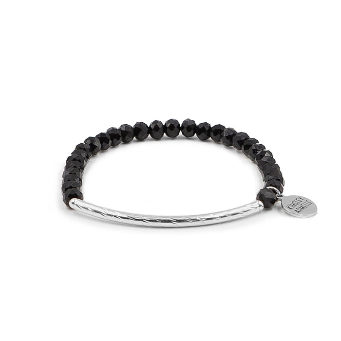 Glory Collection - Silver Coal Bracelet