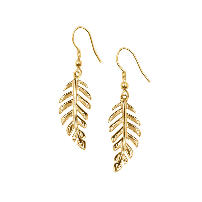Goddess Collection - Laurel Leaf Drop Earrings