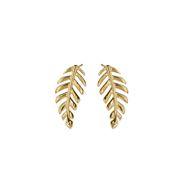 Goddess Collection - Laurel Leaf Stud Earrings