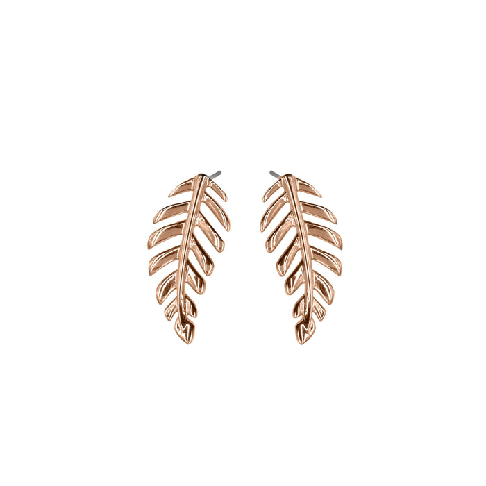 Goddess Collection - Rose Gold Laurel Leaf Stud Earrings