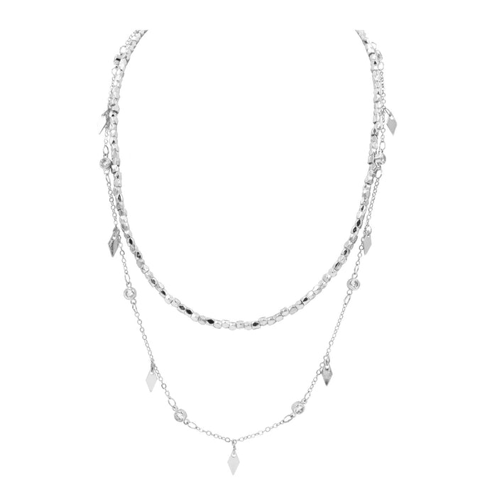 Goddess Collection - Silver Aria Necklace