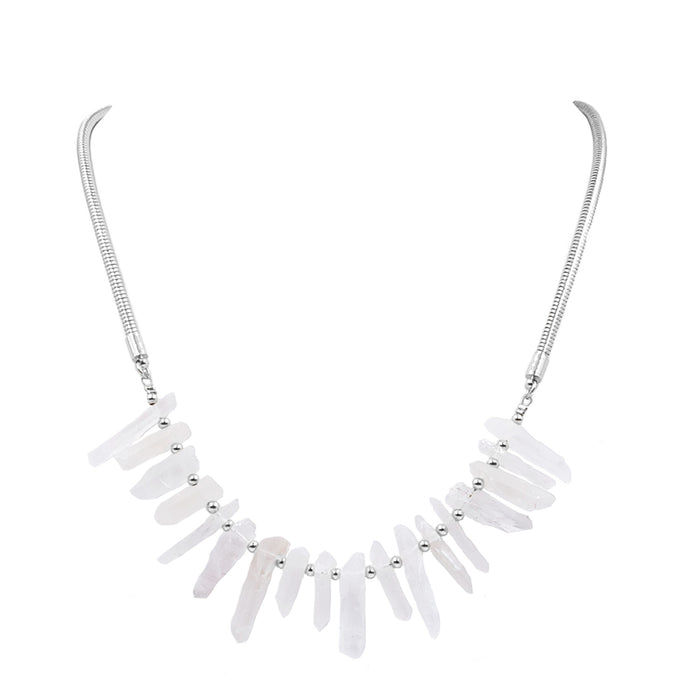 Goddess Collection - Silver Quartz Necklace