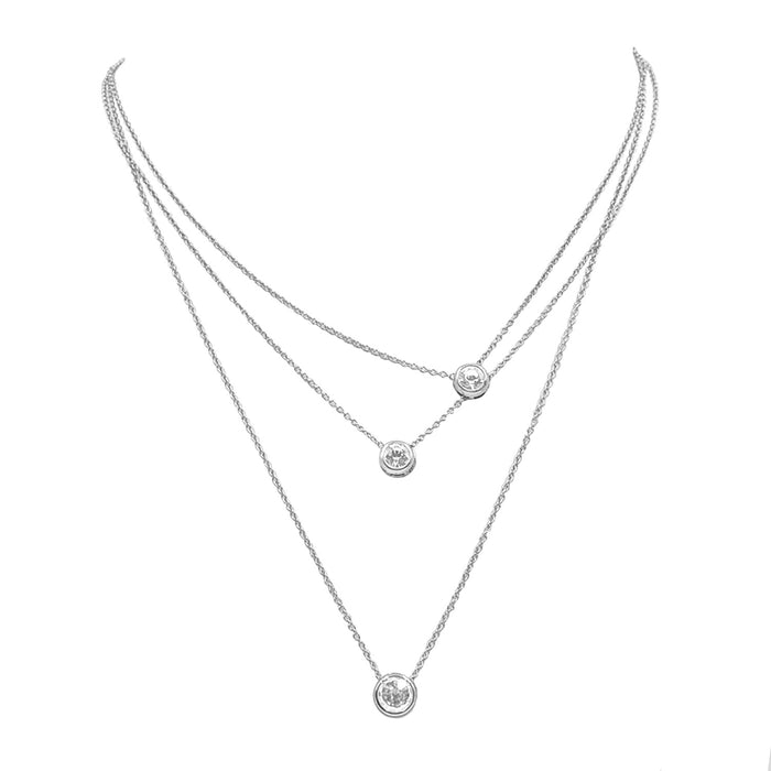 Goddess Collection - Silver Trinity Necklace