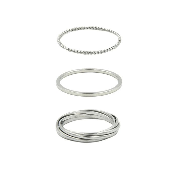 Goddess Collection - Silver Ring Set