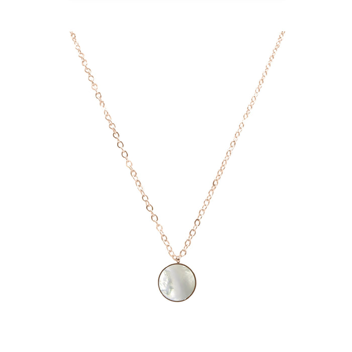 Goddess Collection - Rose Gold Mother of Pearl Necklace