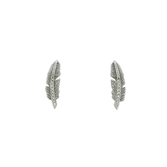Goddess Collection - Silver Quill Stud Earrings
