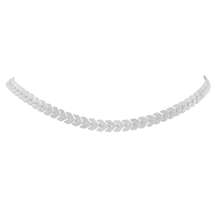 Goddess Collection - Silver Lance Choker Necklace