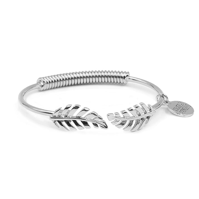 Goddess Collection - Silver Laurel Leaf Bracelet