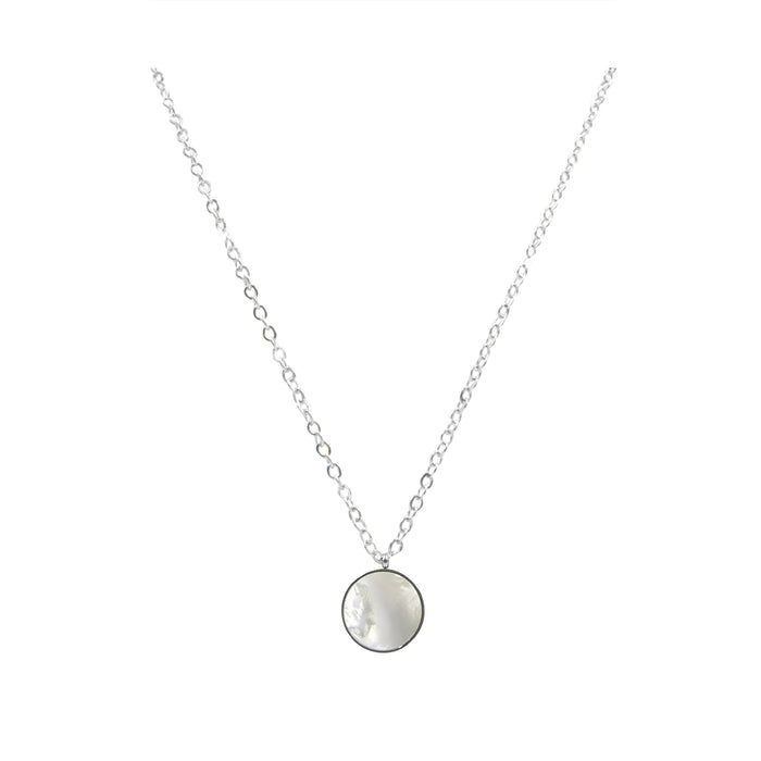 Goddess Collection - Silver Mother of Pearl Necklace