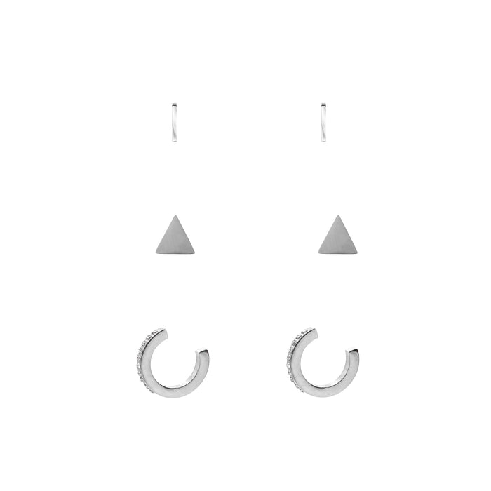 Goddess Collection - Silver Piper Earring Set