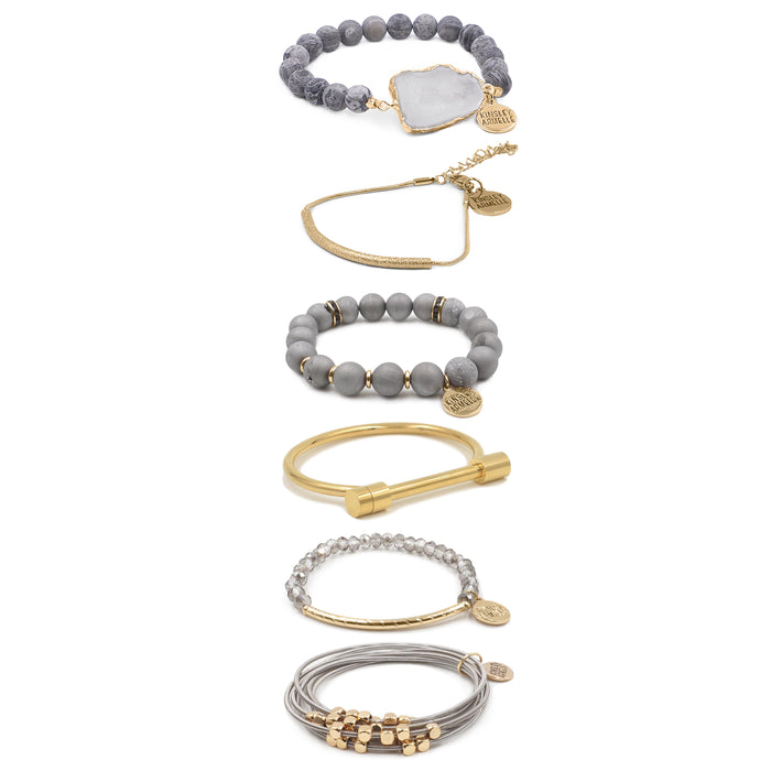 Golden Bracelet Stack