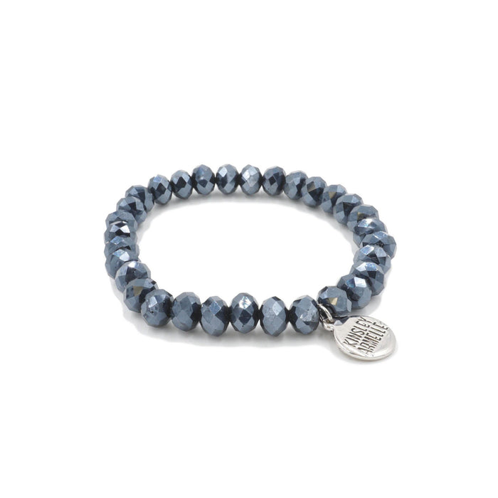 Halo Collection - Silver Indigo Bracelet - Kinsley Armelle