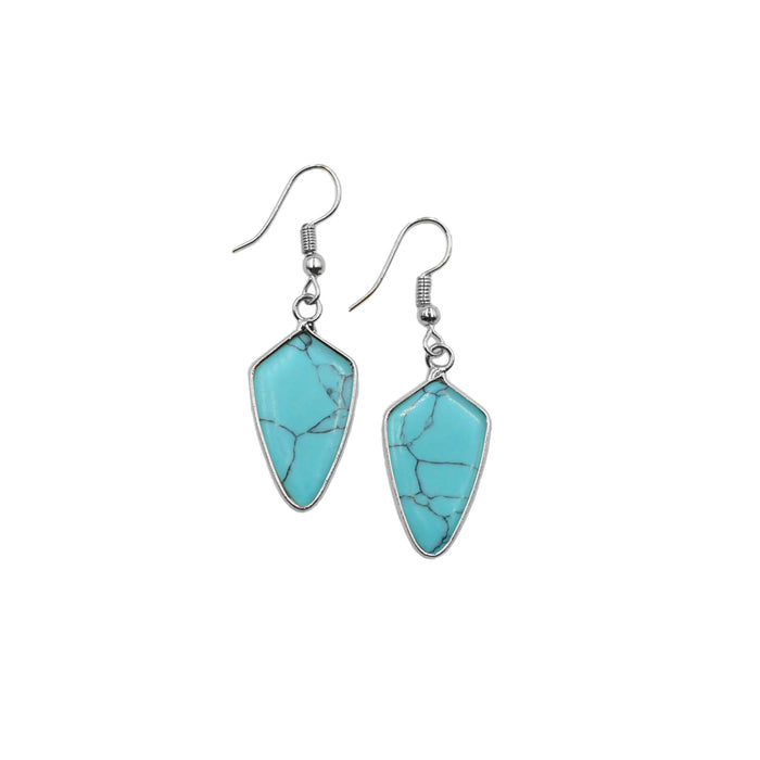 Ivy Collection - Silver Turquoise Earrings