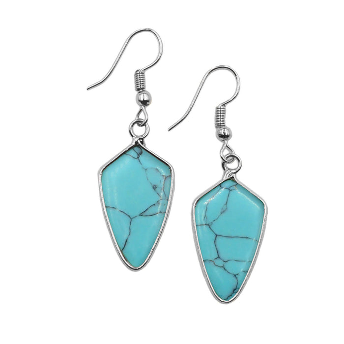 Maxi Collection - Silver Turquoise Earrings