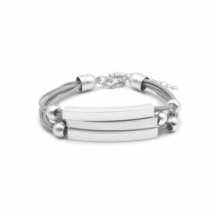 Metallic Collection - Silver Slate Bracelet