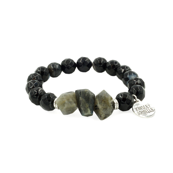 Mineral Collection - Silver Coal Bracelet