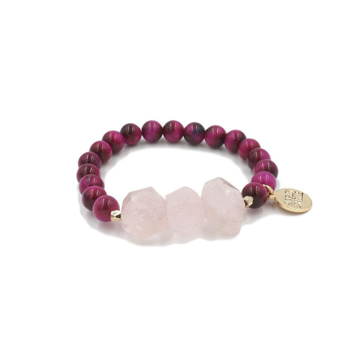 Mineral Collection - Raspberry Wine Bracelet - Kinsley Armelle
