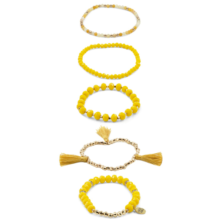 Stacked Collection - Mustard Bracelet Set