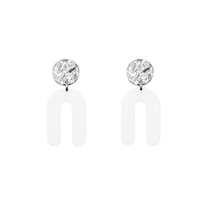 Rayne Collection - Silver Ashen Earrings