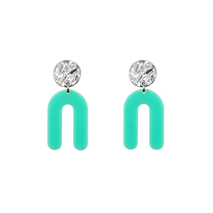 Rayne Collection - Silver Mint Earrings