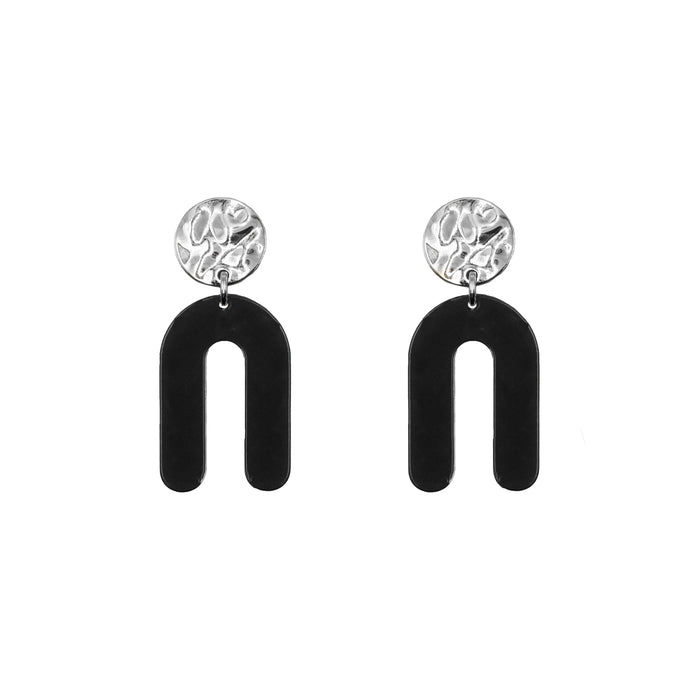 Rayne Collection - Silver Raven Earrings