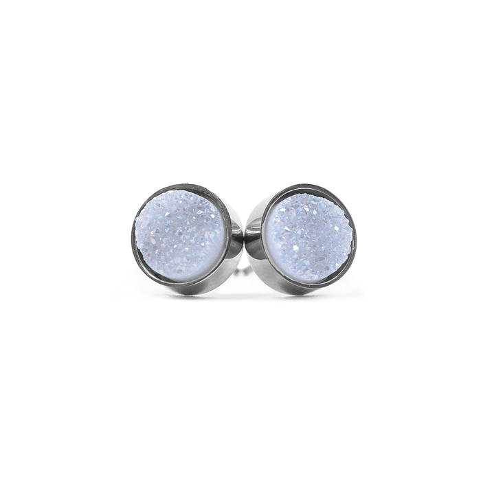Regal Collection - Silver Ice Stud Earrings