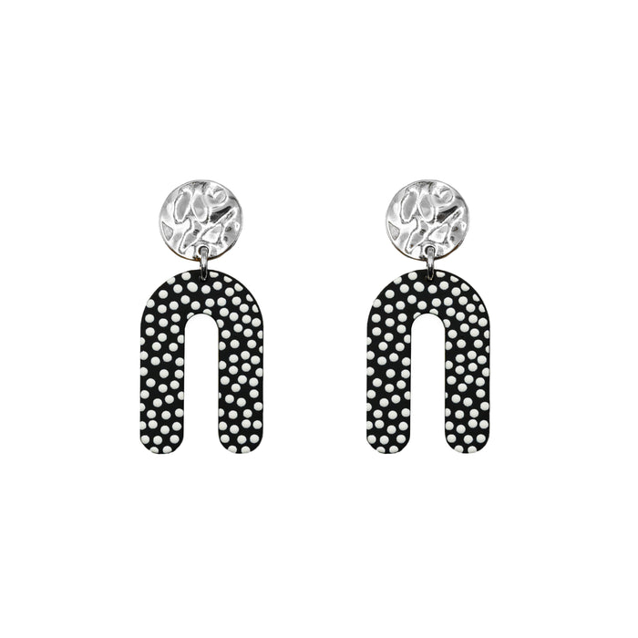Rayne Collection - Silver Dottie Earrings