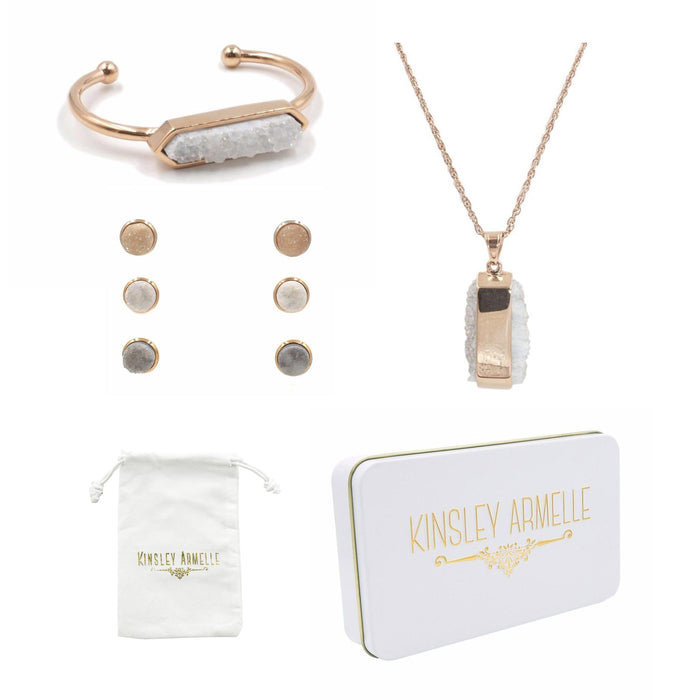 Stone Rose Gold Quartz Gift Set