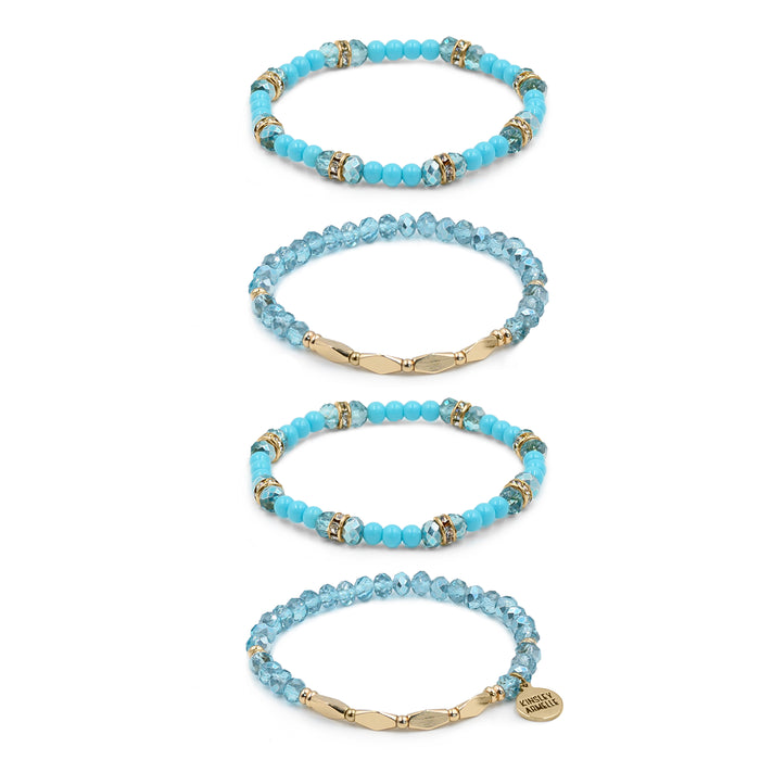 Stacked Collection - Azure Bracelet Set