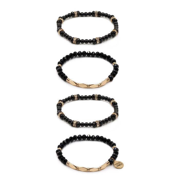 Stacked Collection - Coal Bracelet Set