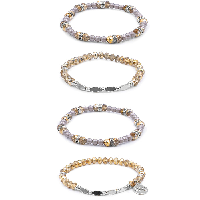 Stacked Collection - Silver Kami Bracelet Set